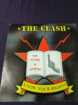 The Clash Know Your Rights 7  Spanish Import 1 Sided Promo Single  • 20£