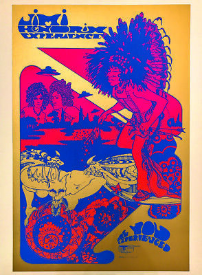 Jimi Hendrix Poster Hapshash OFFICIAL Print - Track 67 Signed By Nigel Waymouth  • 149.99£