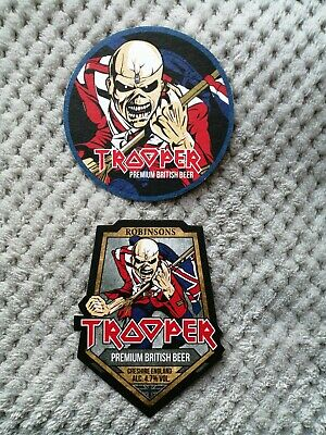 Iron Maiden - The Trooper Premium British Beer - Two Collectable New Coasters ! • 4£