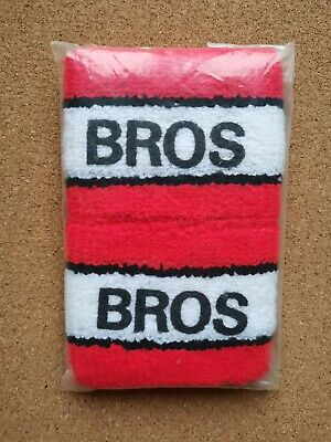 BROS Vintage Pair Of Unused Logo Printed Sweatbands 80's 90's Pop Matt Luke Goss • 9.95£
