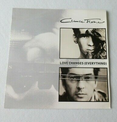 Climie Fisher – Love Changes (Everything) Vinyl 12  Single 45rpm 1988 • 10£