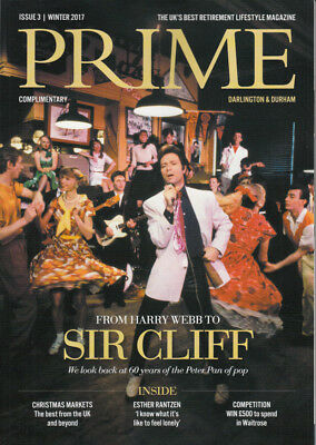 CLIFF RICHARD : 'Prime' MAGAZINE 2017 - Including Interview  • 1.30£