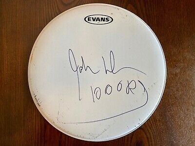 The Doors  John Densmore Signed 15  Drumhead (exact Photo Proof) • 58.52£