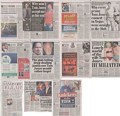 TOM JONES : CUTTINGS COLLECTION - Newspaper Articles  • 5£