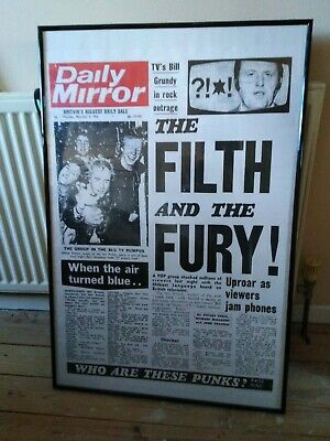 Sex Pistols Framed Filth And The Fury Poster • 13£