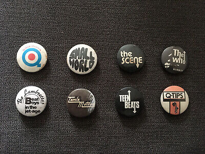 8 Original Mod Pin Badges • 5£
