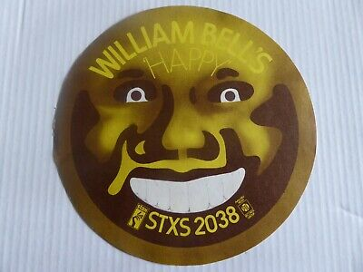 Rare Large 1969 Sticker Promote William Bell Single Happy Soul Private Number • 9.99£