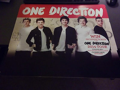 One Direction Poster Promo For Competition On Cardboard From Argos  • 2.50£
