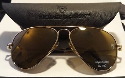 Michael Jackson Official Licensed Mjlogo Sunglasses Gold Ultra Rare Unworn New • 239.95£
