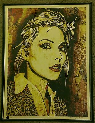 Debbie Harry / Blondie • Shepard Fairey • Rare Sold Out Screen Print • Mayday • 393.39£