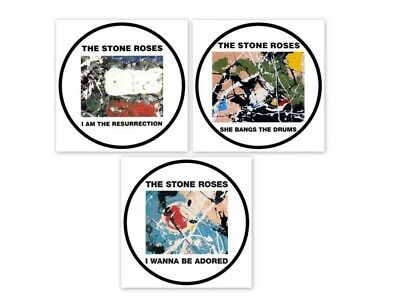 X 3  The Stone Roses Album Cover Decal Vinyl Stickers 100mm  4  1 Free • 4£