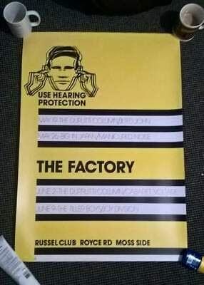 FAC1  FACTORY  RECORDS Poster Joy Division RUSSELL CLUB  RARE POSTER  , FAC1 • 40£