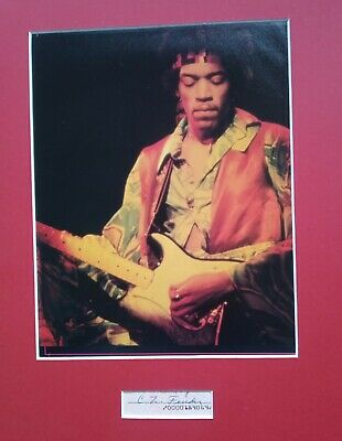 Jimi Hendrix Matted Display W/ Leo Fender Signed 1967 Cheque • 20£