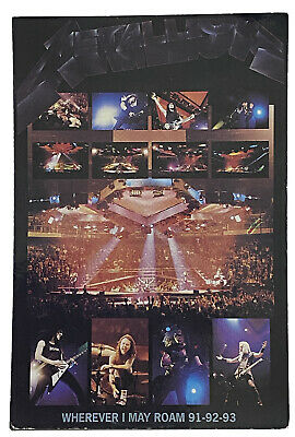 METALLICA - Wherever I May Roam 91-92-93 - Old OG Vtg 1990`s Postcard Official   • 2.99£
