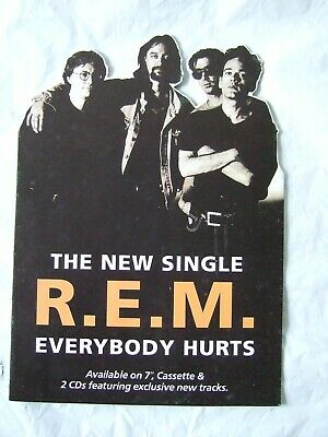 R.E.M  Everybody Hurts  Card Promo Counter Stand  1993 • 10£