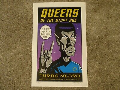 Signed! Justin Hampton Spock Poster # 144/150 Queens Of Stone Age Asbury Nj 2003 • 61£