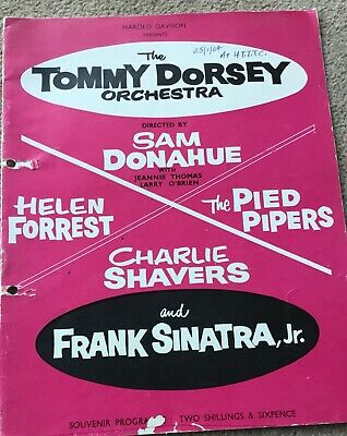 FRANK SINATRA Jr & THE TOMMY DORSEY ORCHESTRA -  1964 TOUR PROGRAMME  • 4.99£