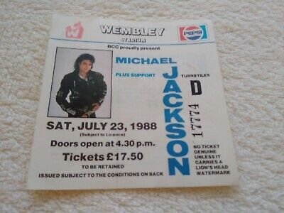 MICHAEL JACKSON  BAD TOUR  Ticket 23rd JULY 1988 • 25£