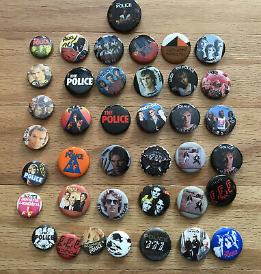 The Police Rock Band Vintage Pin Badge Collection Lot Of (39) Sting Stewart Andy • 10.72£