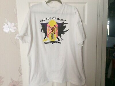 Original Caister Soul Weekend Decade Of Dance T- Shirt 1980/90s • 10£