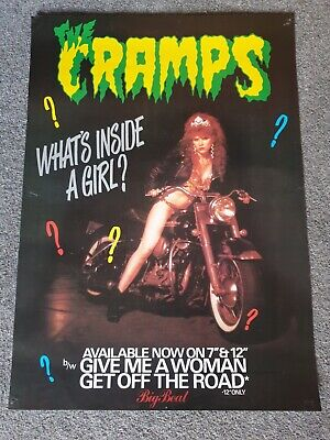 The Cramps Vintage Record Promo Poster What's Inside A Girl? • 50£