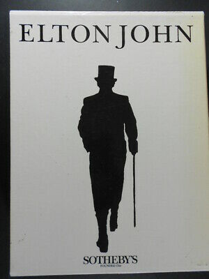 Elton John Memorabilia Auction Catalogues, Sotheby's Sep. 1988. 4 Books. Mint. • 50£