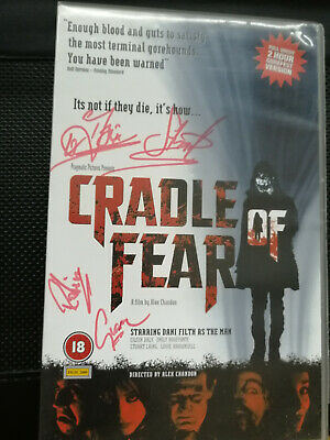 Cradle Of Filth CRADLE OF FEAR VHS Signed Copy! • 11£