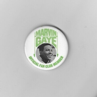 Motown 1960's Rare Marvin Gaye Fan Club Large Metal Pin Badge • 24.99£