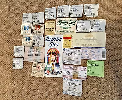 VARIOUS VINTAGE 1980's GIGS USED TICKETS*STATUS QUO*ROCK BAND*IN WALLET • 4.99£