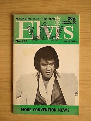 May 1974 ELVIS MONTHLY #172 Magazine In Good Condition • 0.49£