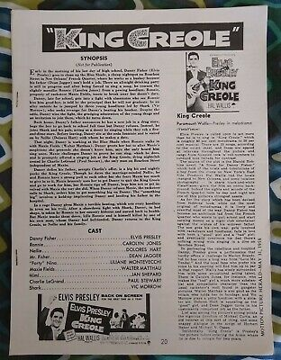 Elvis Presley Collection Of Reproduced  King Creole  Articles, Origin Unknown • 0.49£