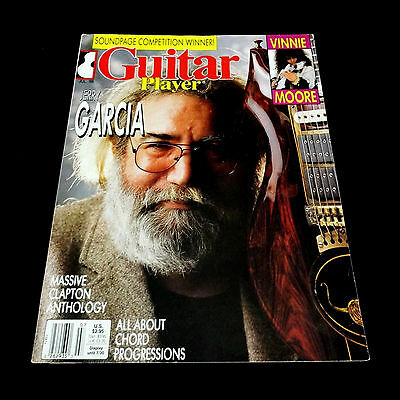 Grateful Dead Jerry Garcia Guitar Player Magazine July 1988 Cover Photo JGB 88 • 64.37£