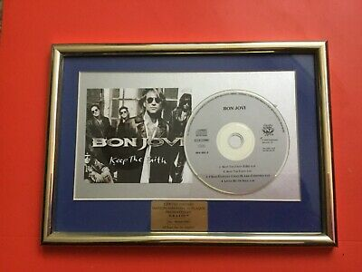 Limited Edition 45/500 Jon Bon Jovi 'keep The Faith' Cd Presentation Plaque • 4.99£