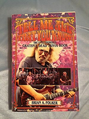 Tell Me All That You Know The Grateful Dead Trivia Book Jerry Garcia Pb Nice • 9.29£