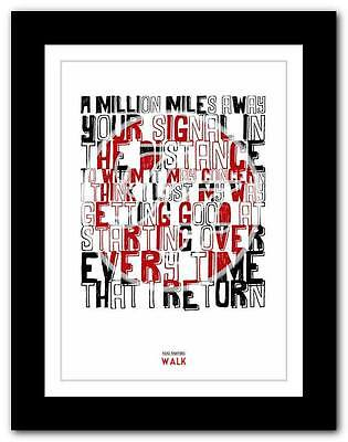 ❤  FOO FIGHTERS - Walk ❤ Lyric Typography Poster Art Print A1 A2 A3 A4 • 14.95£