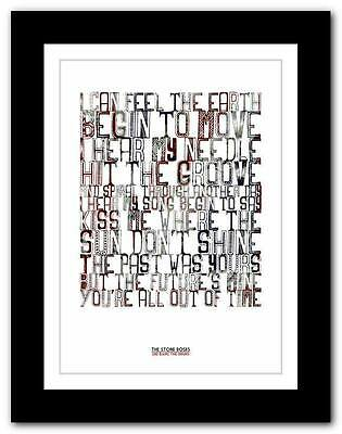 ❤ THE STONE ROSES She Bang The Drums ❤ Lyric Poster Art Print A1 A2 A3 Or A4 • 9.95£