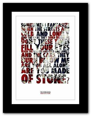 THE STONE ROSES Made Of Stone ❤ Lyric Typography Poster Art Print A1 A2 A3 Or A4 • 14.95£