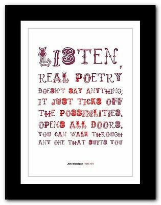 Jim Morrison ❤ The Doors Typography Quote Poster Art Limited Edition Print # 01 • 16.95£