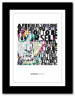 Jim Morrison ❤ Typography Quote Poster Art Limited Edition Print The Doors #2 • 16.95£