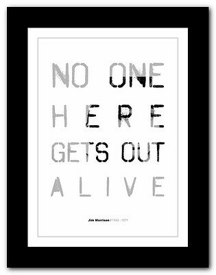 Jim Morrison ❤ Typography Quote Poster Art Limited Edition Print The Doors #12 • 14.95£