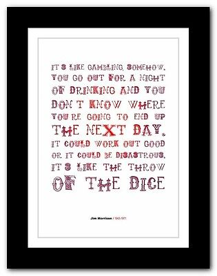 Jim Morrison ❤ Typography Quote Poster Art Limited Edition Print The Doors #17 • 9.95£