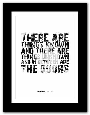 Jim Morrison ❤ Typography Quote Poster Art Limited Edition Print The Doors #49 • 14.95£
