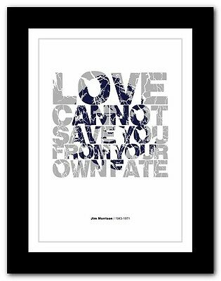 Jim Morrison ❤ Typography Quote Poster Art Limited Edition Print The Doors #29 • 16.95£