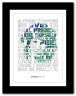 Jim Morrison ❤ Typography Quote Poster Art Limited Edition Print The Doors #5 • 16.95£