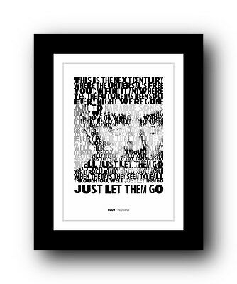 BLUR The Universal  ❤  Song Lyrics Typography Poster Art Print • 16.95£