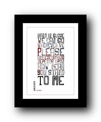 The Smiths ❤  Hand In Glove ❤ Song Lyrics Poster Art Limited Edition Print #3 • 15.99£
