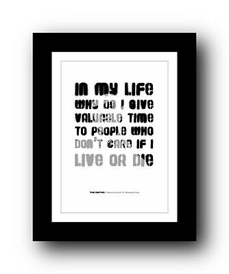 The Smiths ❤ Heaven Knows I'm Miserable Now #3  Song Lyrics Poster Ltd Ed Print • 15.99£
