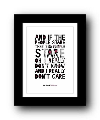 The Smiths ❤ Hand In Glove ❤ Song Lyrics Poster Art Limited Edition Print #5 • 15.99£