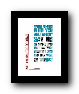 The Smiths ❤ Reel Around The Fountain Song Lyrics Poster Limited Edition Print • 15.99£