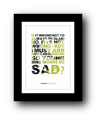 The Smiths ❤ Sheila Take A Bow ❤ Song Lyrics Poster Art Limited Edition Print • 15.99£